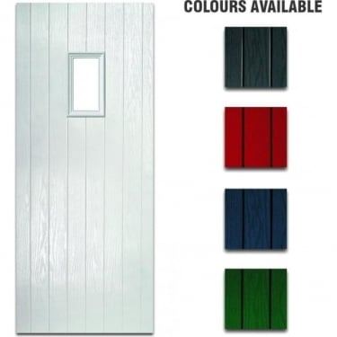 External Pre-Hung Chancery Obscure Composite Doorset