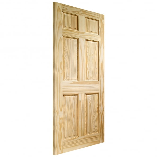 Internal Clear Pine Colonial 6 Panel Fire Door