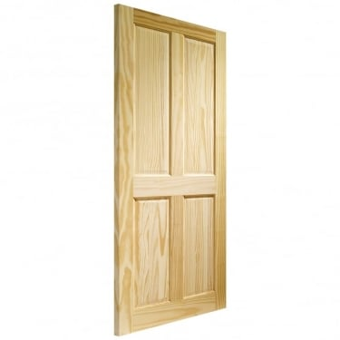 XL Joinery Internal Clear Pine Victorian 4 Panel Fire Door