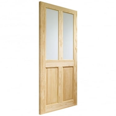 XL Joinery Internal Clear Pine Victorian with Clear Glass Door
