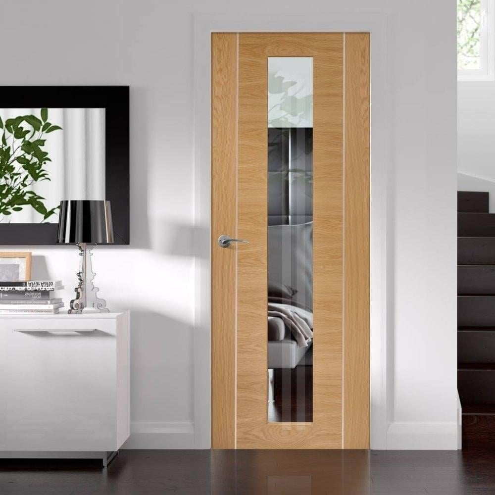 Internal Fully Finished Oak Forli Door with Clear Glass : xl doors - pezcame.com