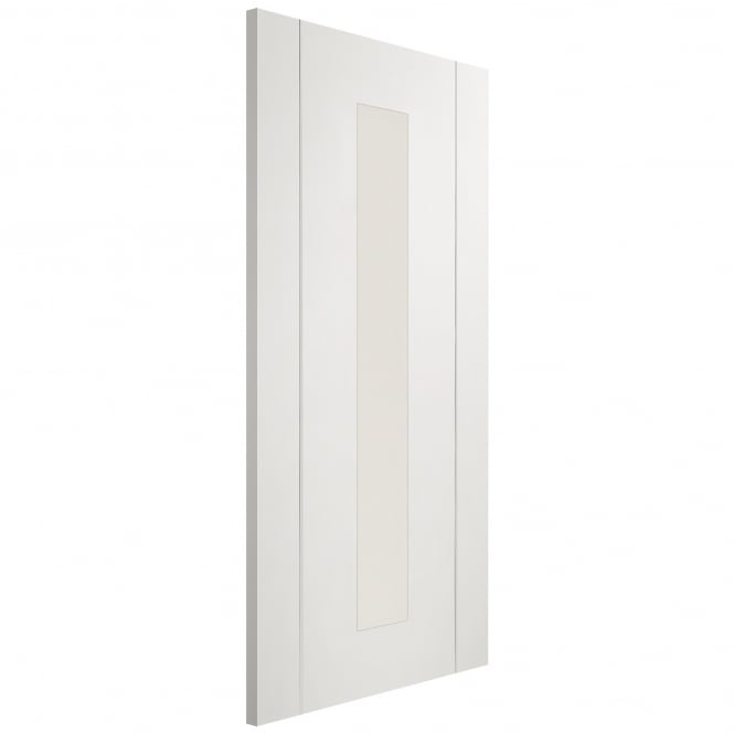 XL Joinery Internal Fully Finished White Forli Door With Clear Glass
