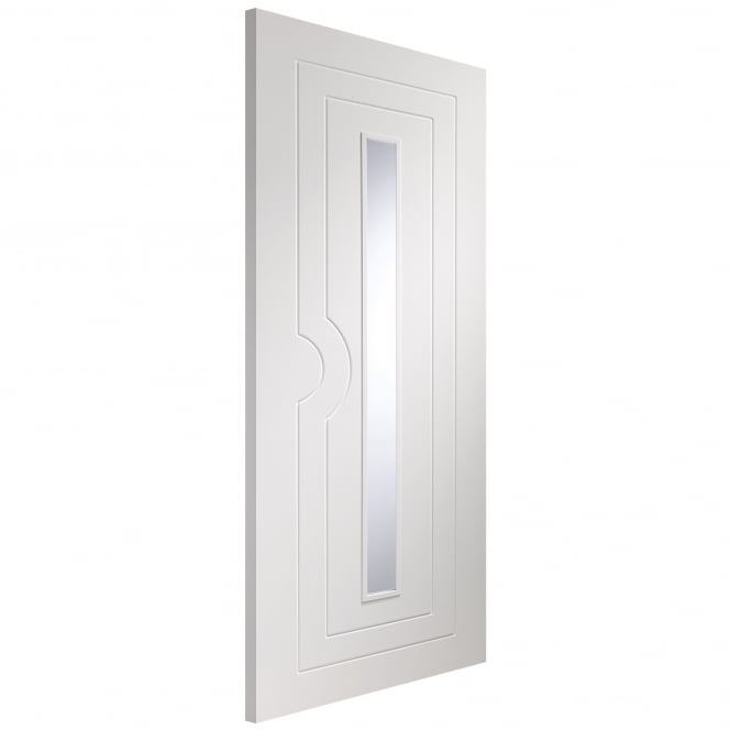 XL Joinery Internal Fully Finished White Potenza Door With Clear Glass