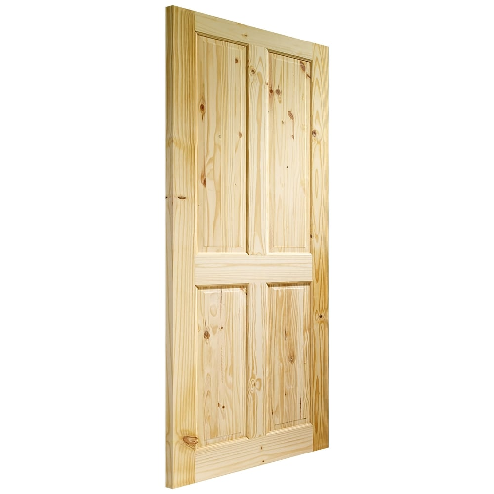 Internal Knotty Pine Unfinished Victorian Door