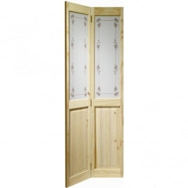 Internal Knotty Pine Victorian with Bluebell Glass Bi-Fold Door