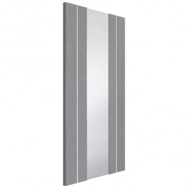 Internal Light Grey Fully Finished Forli 1L Door with Clear Glass