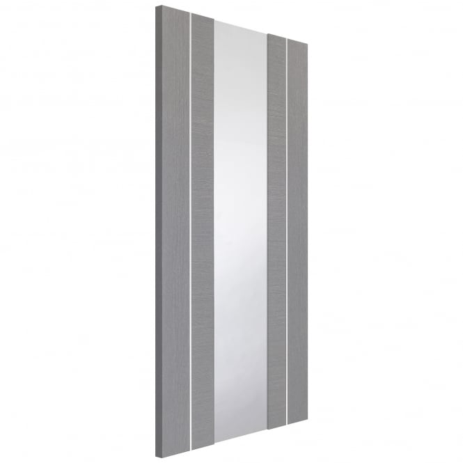 XL Joinery Internal Light Grey Fully Finished Forli Door with Clear Glass
