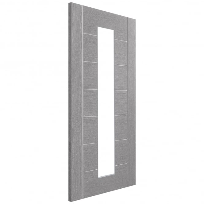 XL Joinery Internal Light Grey Fully Finished Palermo Door with Clear Glass