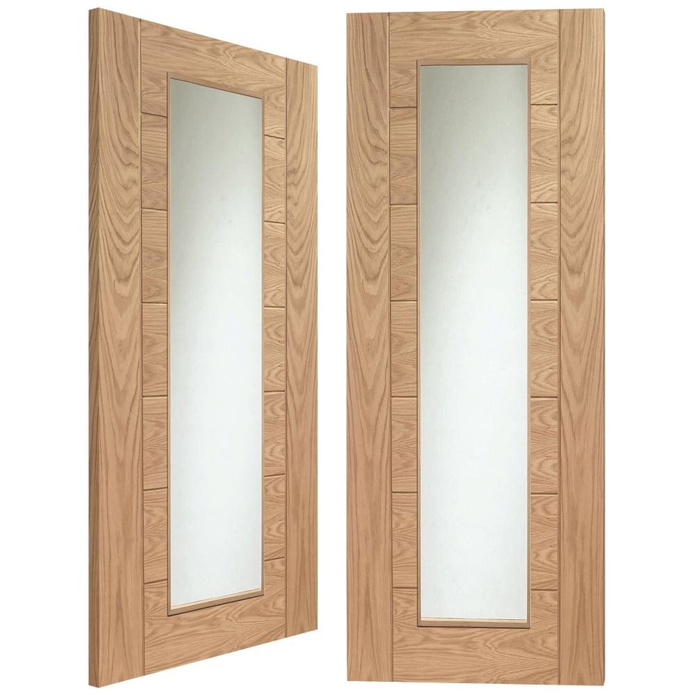 Xl Joinery Internal Oak Unfinished Palermo 2l Pair Door