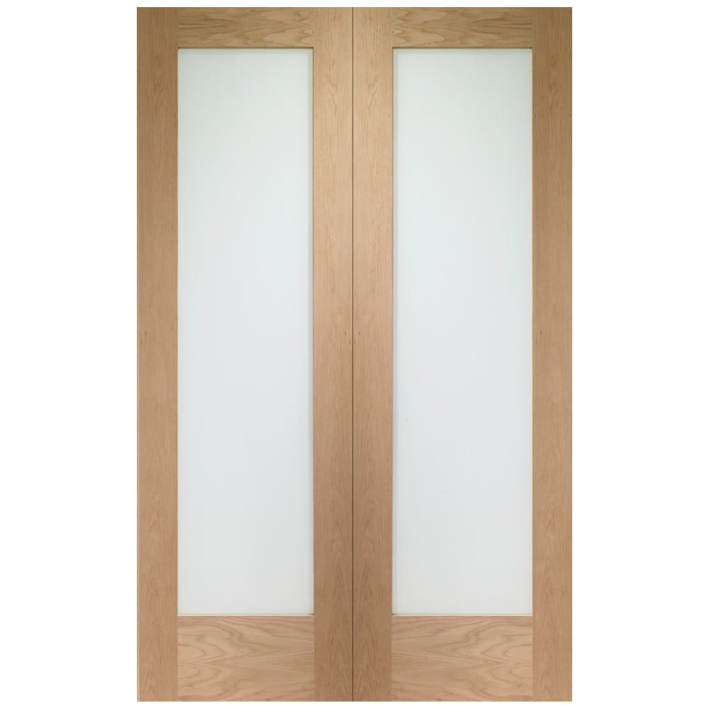 Xl Joinery Pattern 10 Oak Un Finished Pair Door Leader Doors