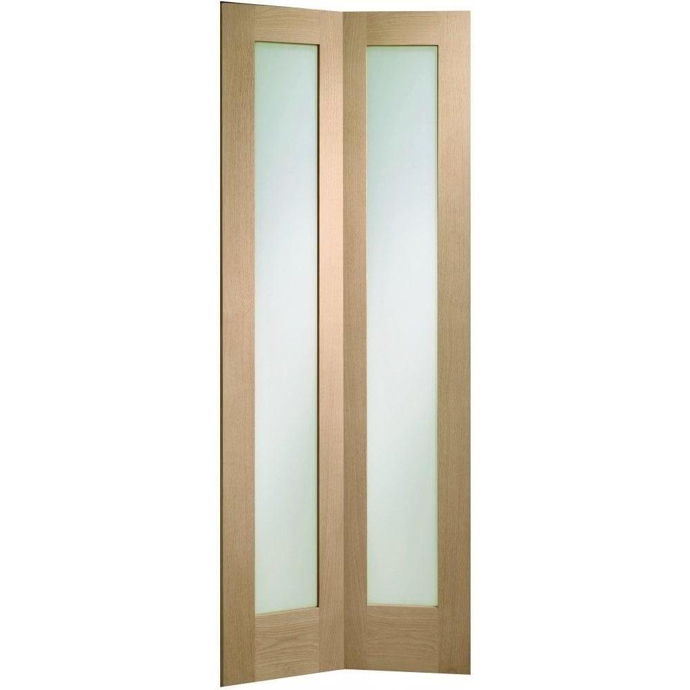 XL Joinery Internal Oak Unfinished Pattern 10 Glazed Door Leader Doors.  Luxury Glass Bifold ...