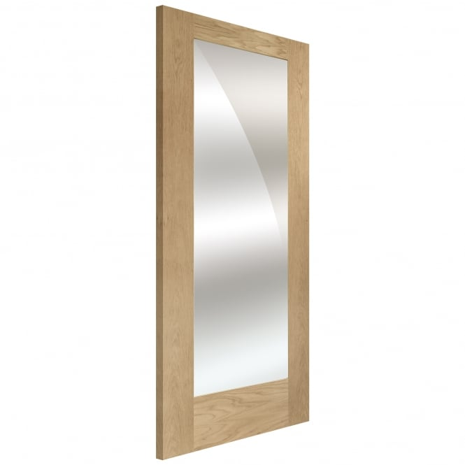 XL Joinery Internal Oak Unfinished Pattern 10 Door with Mirror