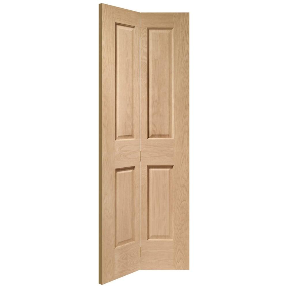 Xl Joinery Internal Oak Unfinished Victorian Bi Fold Door