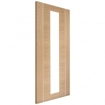 XL Joinery Internal Pre-Finished Oak Forli Door with Clear Glass
