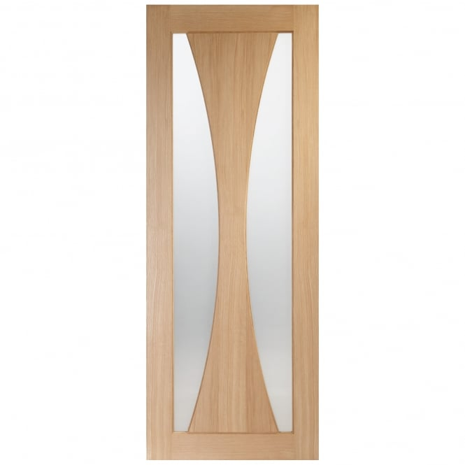 XL Joinery Internal Pre-Finished Oak Verona Door with Clear Glass