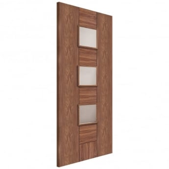 XL Joinery Internal Pre-Finished Walnut Messina Door with Clear Glass