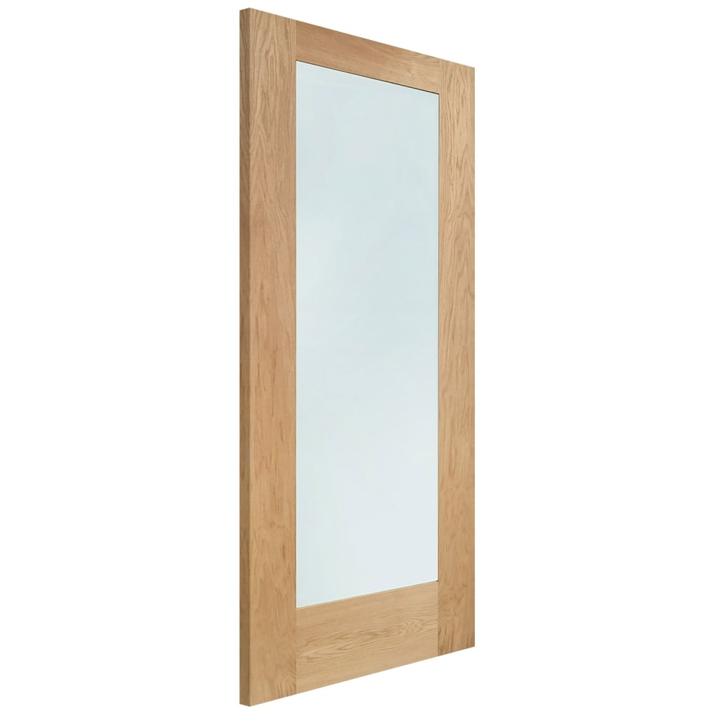 Xl joinery pattern 10 oak un finished clear glass internal for Design patterns of doors