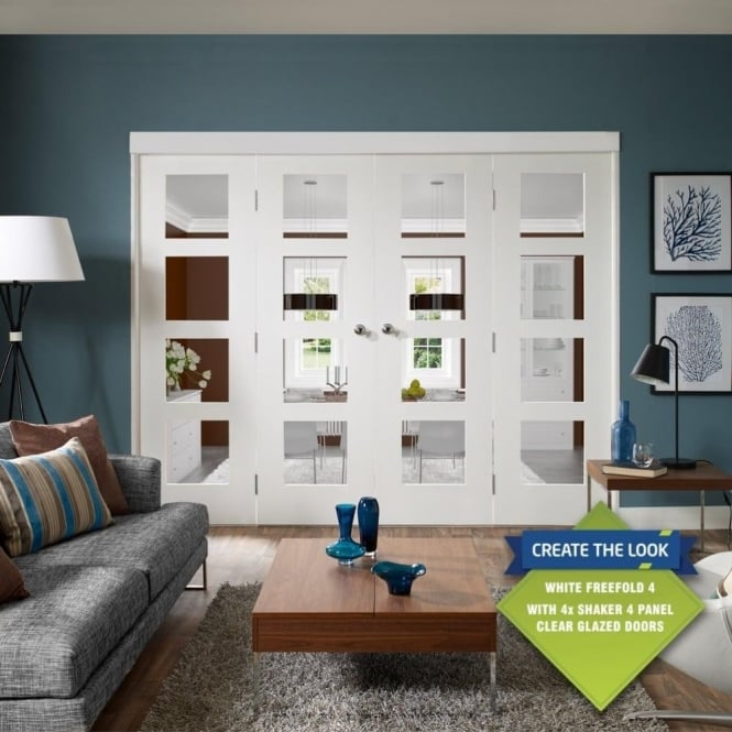 XL Joinery Internal White Freefold Room Divider Door System