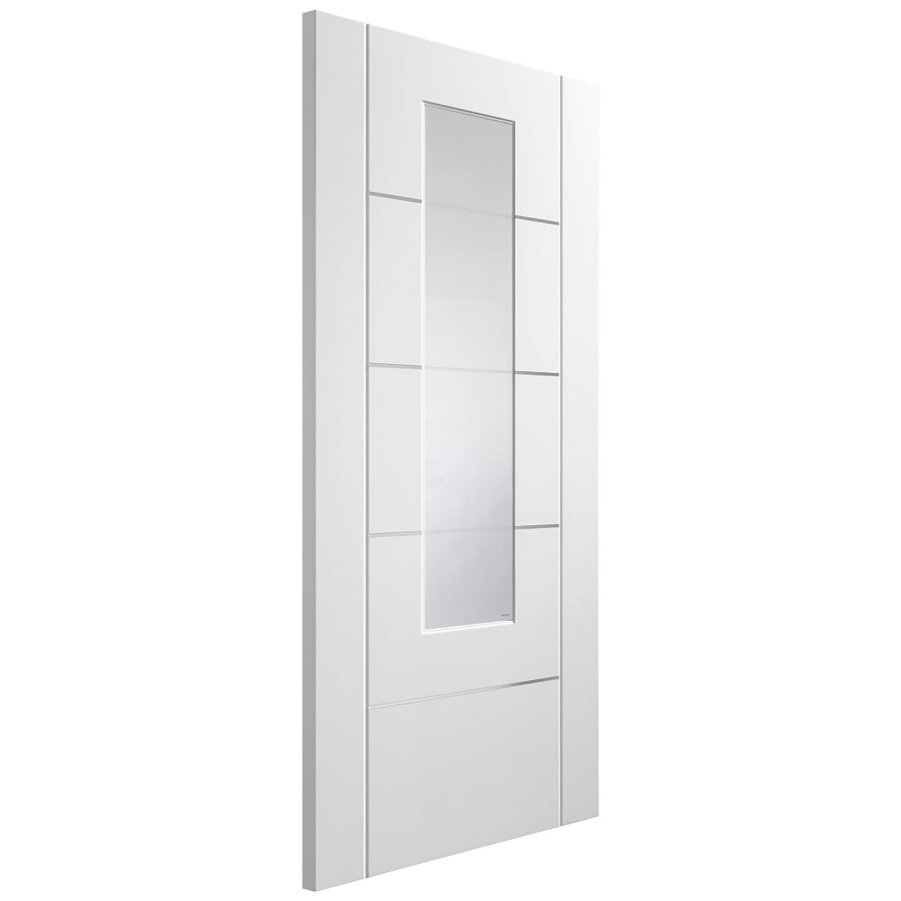 Internal white fully finished portici door with aluminium inlay and internal white fully finished portici 1l door with etched clear glass planetlyrics Images