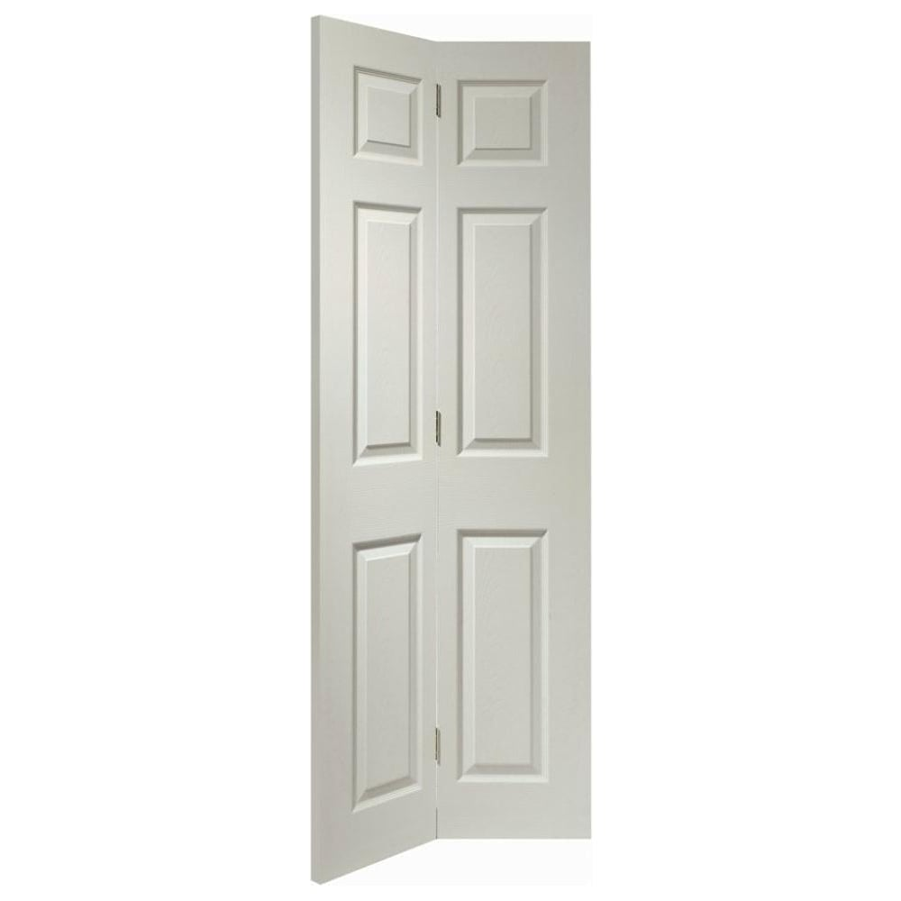 Xl joinery internal white moulded colonist bi fold door for Moulded panel doors