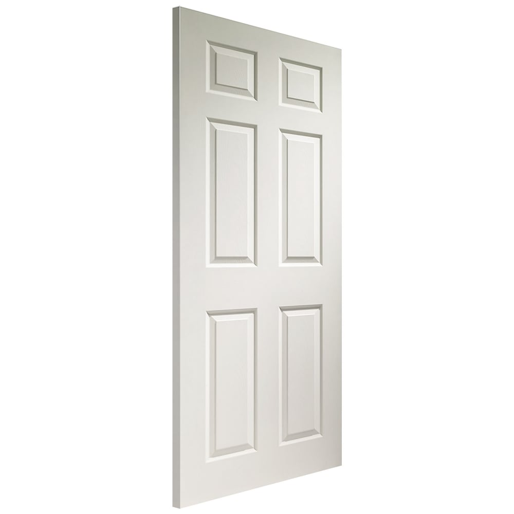 Xl joinery colonist white moulded panelled internal door for Moulded panel doors