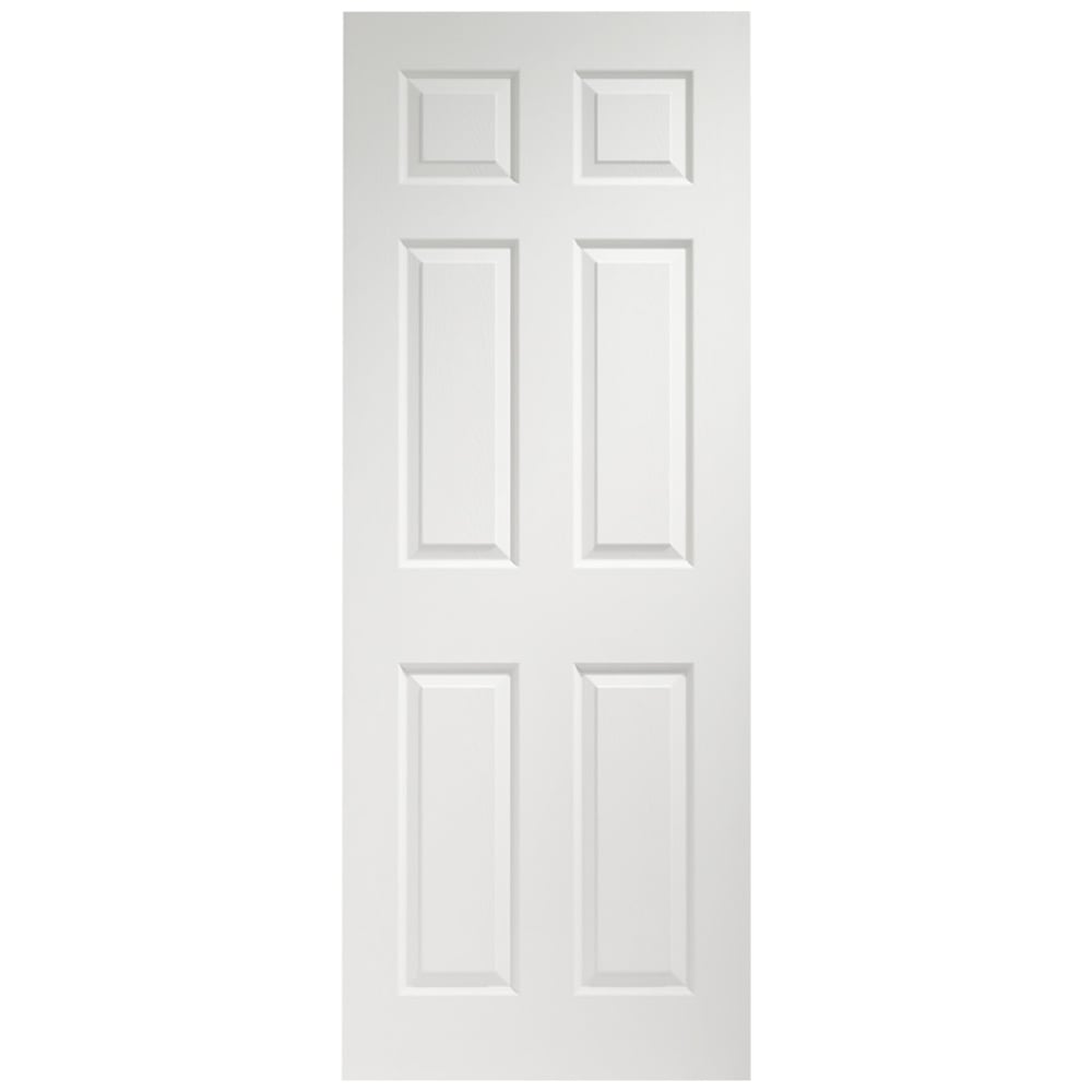6 Panel White Interior Doors
