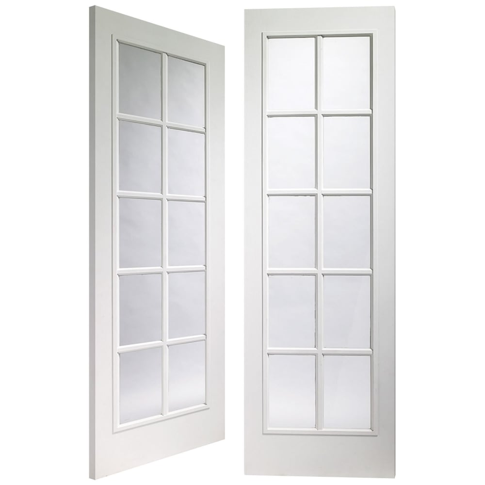 Internal White Moulded Fully Finished Portobello 20L Pair Door with Clear Glass  sc 1 st  Leader Doors & XL Joinery Internal White Moulded Pre-Finished Portobello Glazed ...