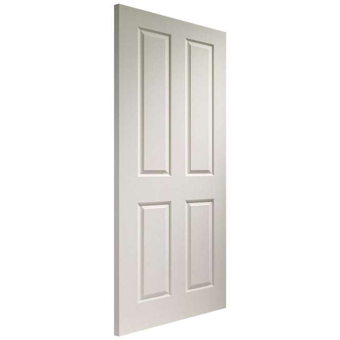 Internal White Moulded Victorian 4 Panel Fire Door