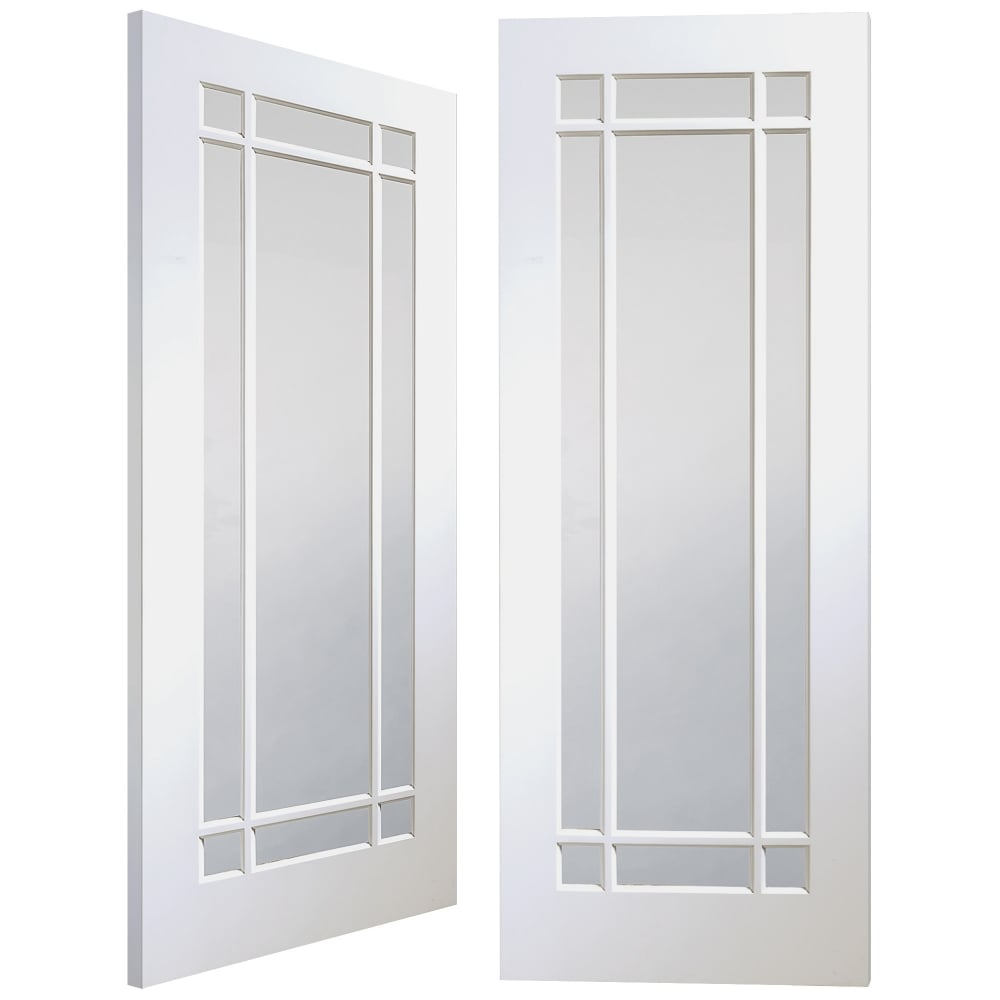 Xl Joinery Internal White Primed Cheshire 18l Pair Door