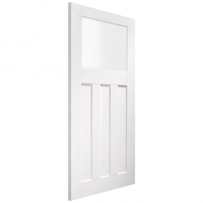 Internal White Primed DX Obscure Glass Door