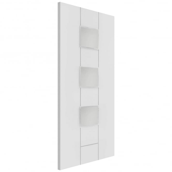 XL Joinery Internal White Primed Messina Door with Clear Glass