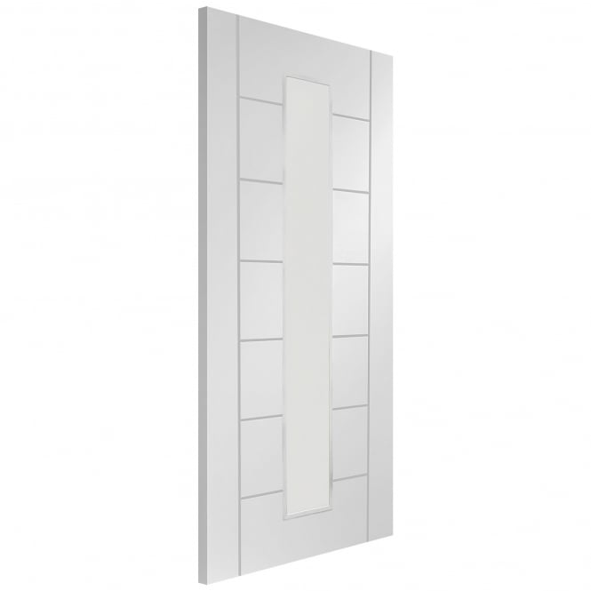 XL Joinery Internal White Primed Palermo 1 Light Fire Door with Clear Glass