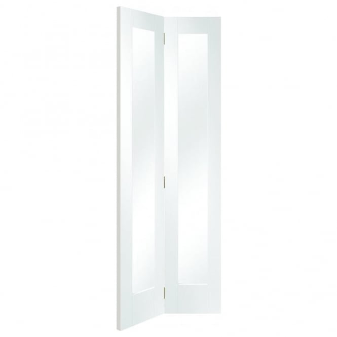 XL Joinery Internal White Primed Pattern 10 Bi-Fold Door With Clear Glass
