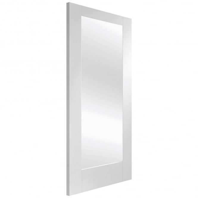 XL Joinery Internal White Primed Pattern 10 Door with Clear Glass