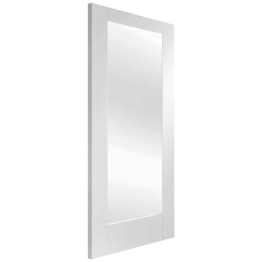 Xl joinery pattern 10 white primed obscure glass internal - White doors with glass internal ...