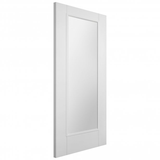 XL Joinery Internal White Primed Pattern 10 Fire Door with Clear Glass