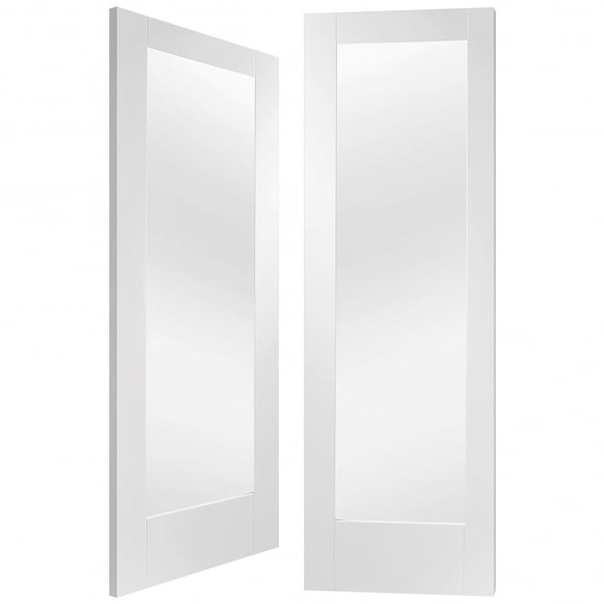XL Joinery Internal White Primed Pattern 10 Pair Door with Clear Glass