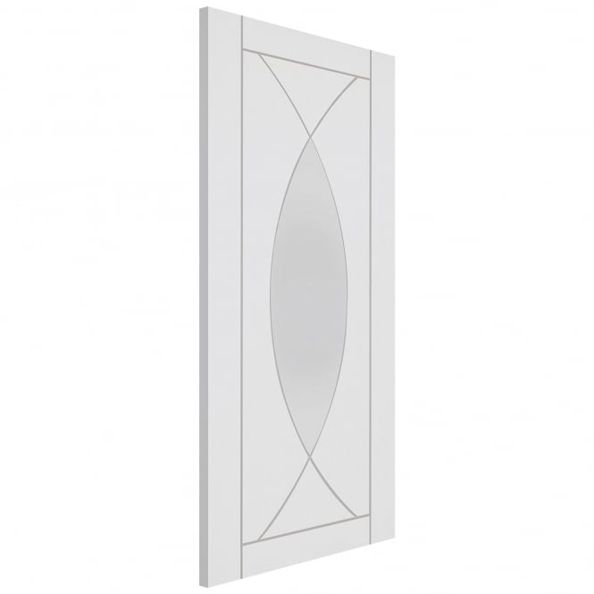 XL Joinery Internal White Primed Pesaro Door with Clear Glass