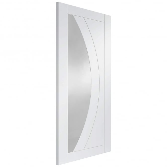 XL Joinery Internal White Primed Salerno Fire Door with Clear Glass