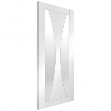 Internal White Primed Verona Door with Clear Glass