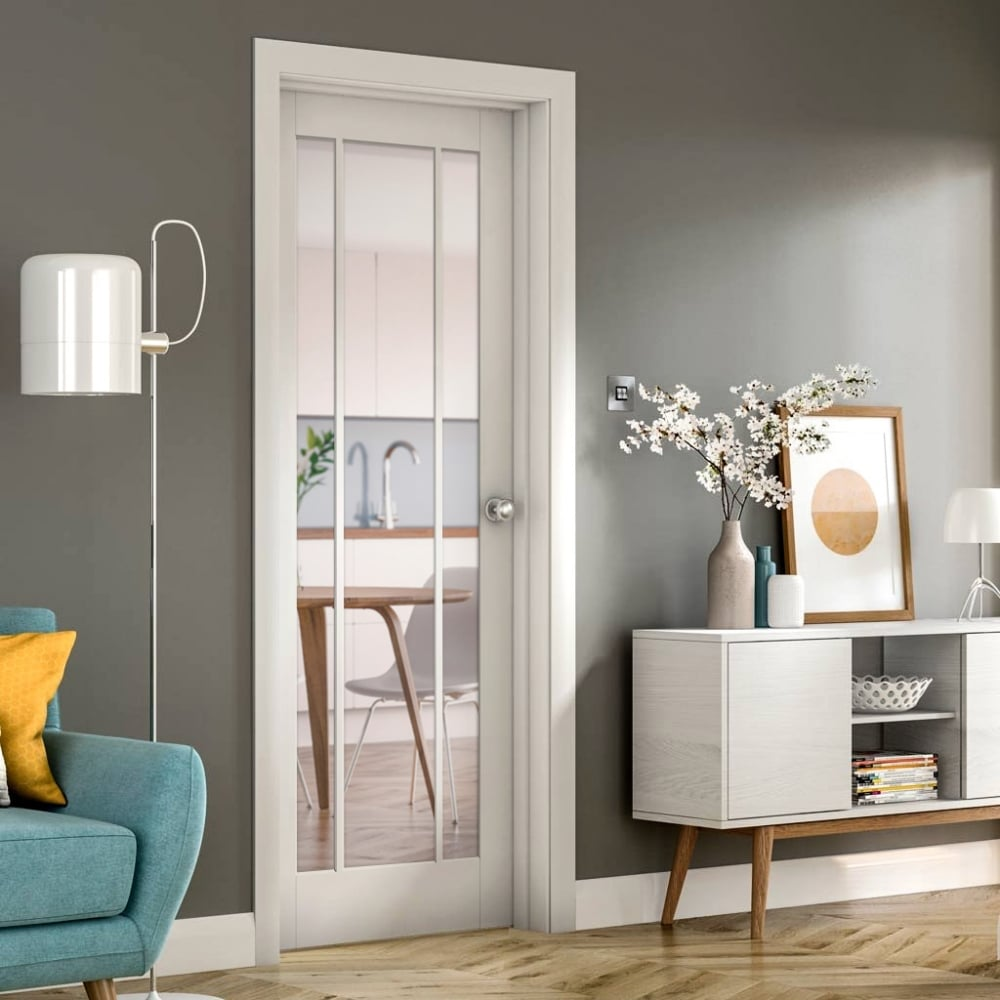 Xl joinery worcester white primed clear glass internal door leader internal white primed worcester door with clear glass planetlyrics Image collections