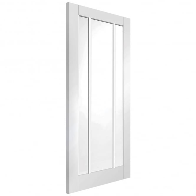 XL Joinery Internal White Primed Worcester Fire Door with Clear Glass