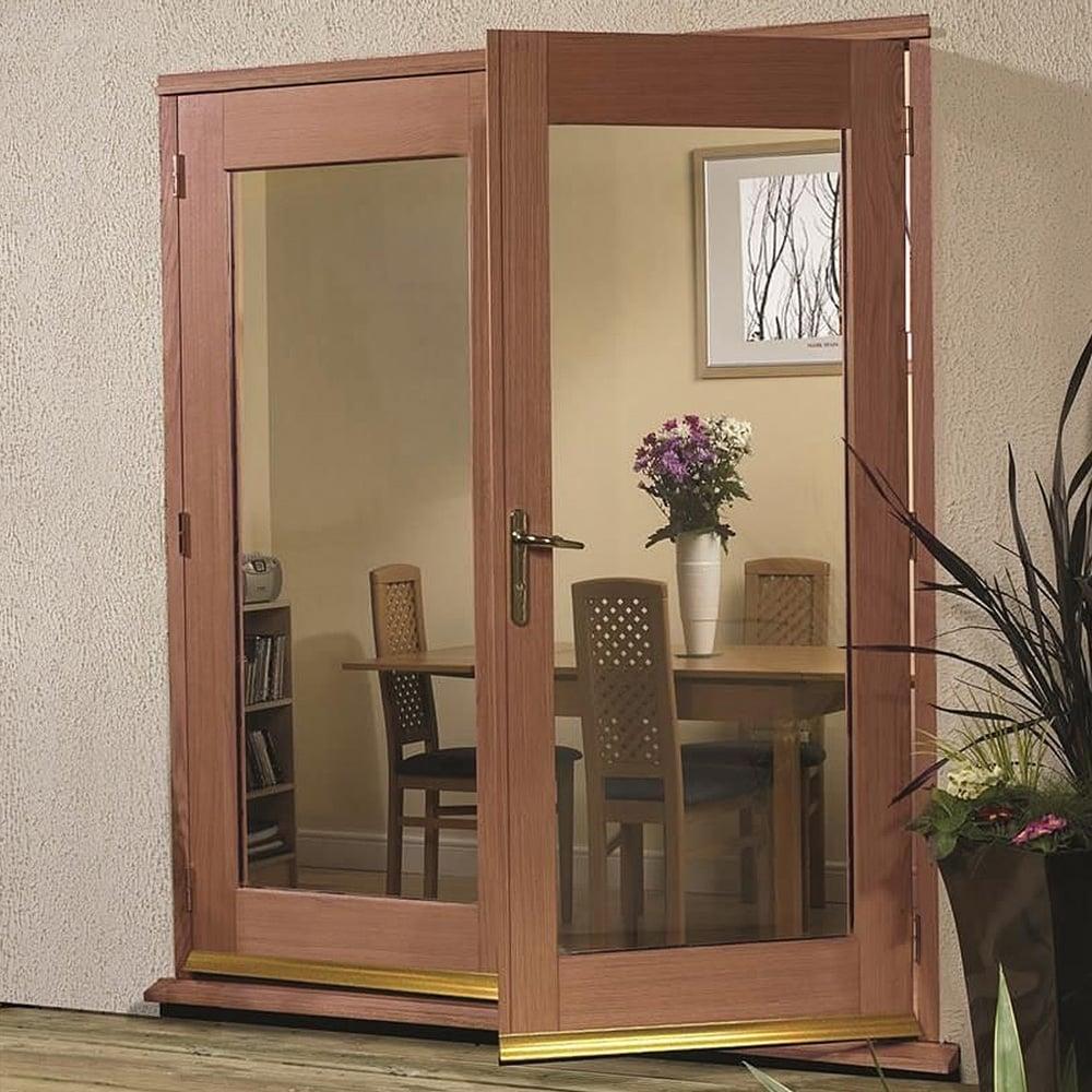Hardwood La Porte Pre Finished Double Glazed Door At Leader Doors