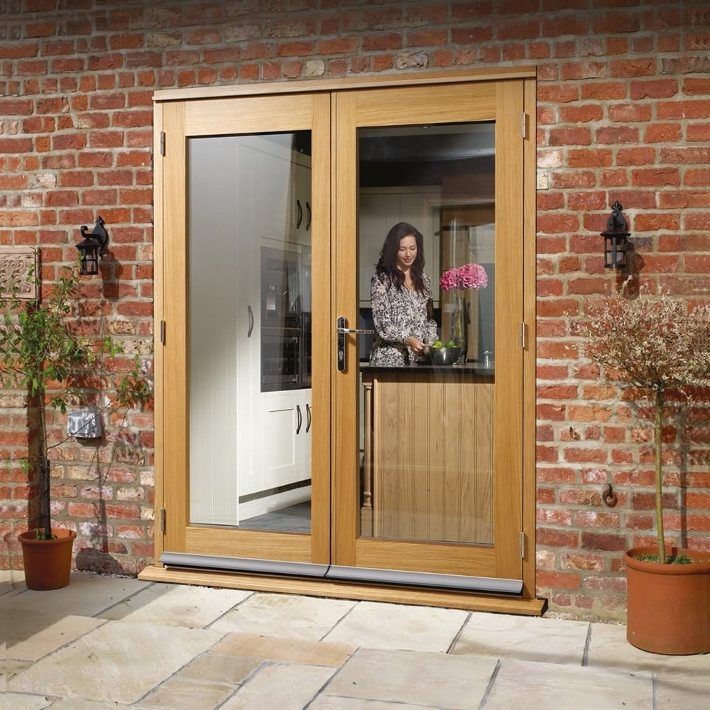 Oak la porte pre finished double glazed door at leader doors for 4ft french doors exterior