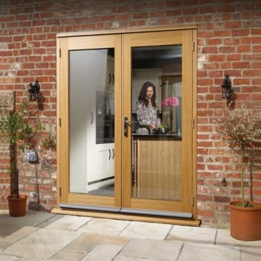 La Porte Pre-finished Oak French Door Set